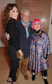 Marie Helvin David Bailey and Zandra Rhodes attend a private view of Bailey's Stardust a exhibition of images by David Bailey supported by Hugo Boss...