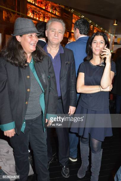Marie isabelle Tadd Marcel Proust specialist writer/philiosoph Michel Erman and Sandrine Taddei attend the 'Pizzeria Popolare 'Launch Party at Rue...