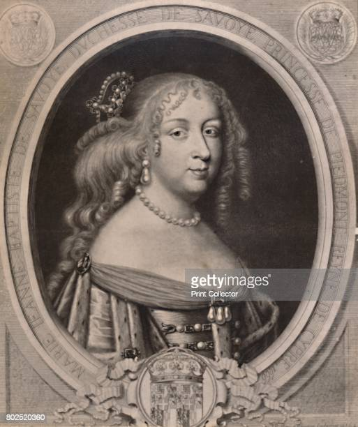 Marie Jeanne Baptiste Duchess of Savoy late 17th century From A Collection of Engraved Portraits Exhibited by the Late James Anderson Rose at the...