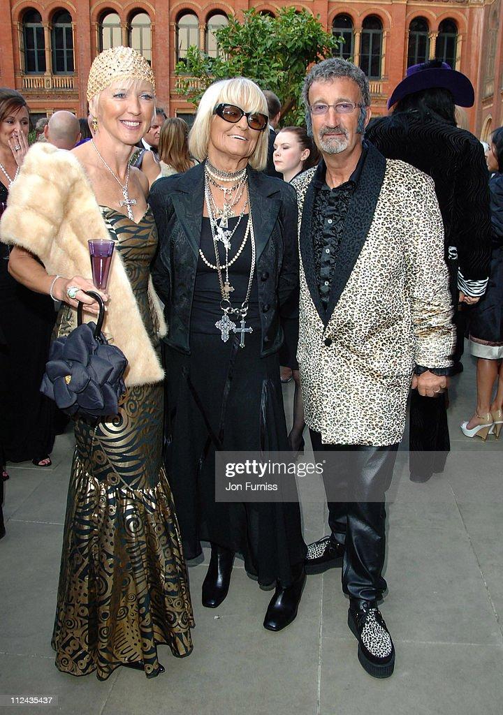 Marie Jordan Barbara Hulanicki and Eddie Jordan during The Biba Ball After Party Inside at Victoria Albert Museum in London Great Britain