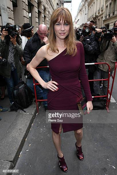 Marie Jose Croze attends the Elie Saab show as part of Paris Fashion Week Haute Couture Fall/Winter 20142015 at Pavillon Cambon Capucines on July 9...