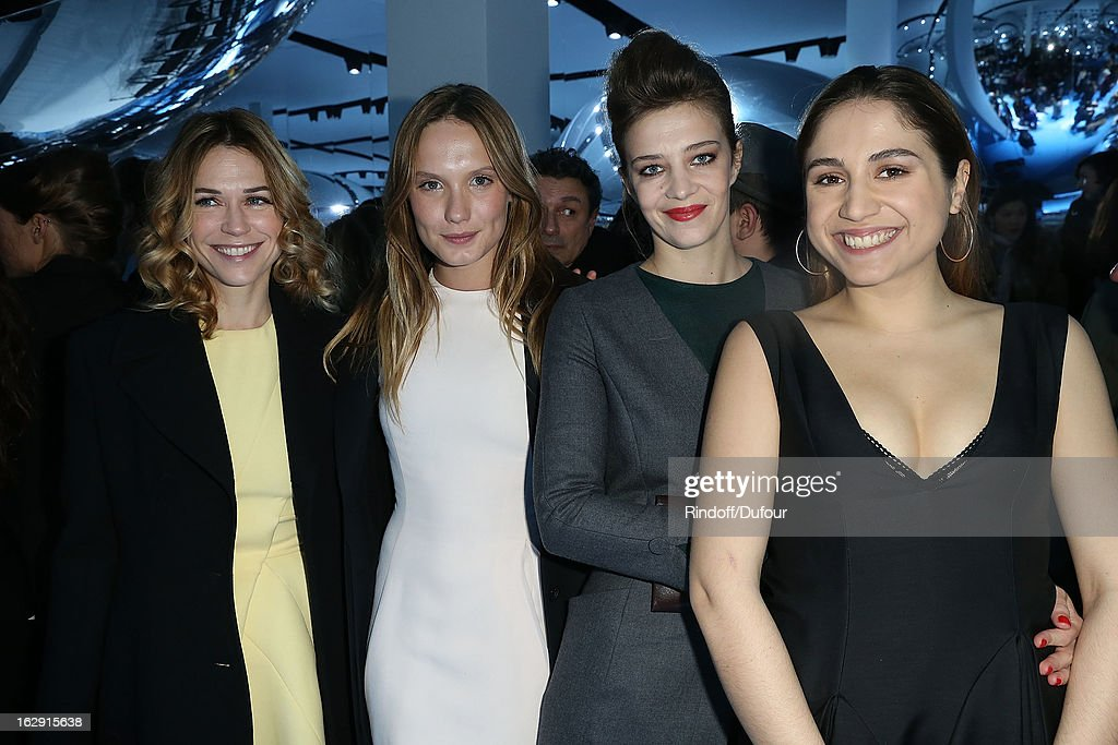 Marie Josee Croze, Ana Girardot, Celine Salette and Izia Higelin attend the Christian Dior Fall/Winter 2013 Ready-to-Wear show as part of Paris Fashion Week on March 1, 2013 in Paris, France.