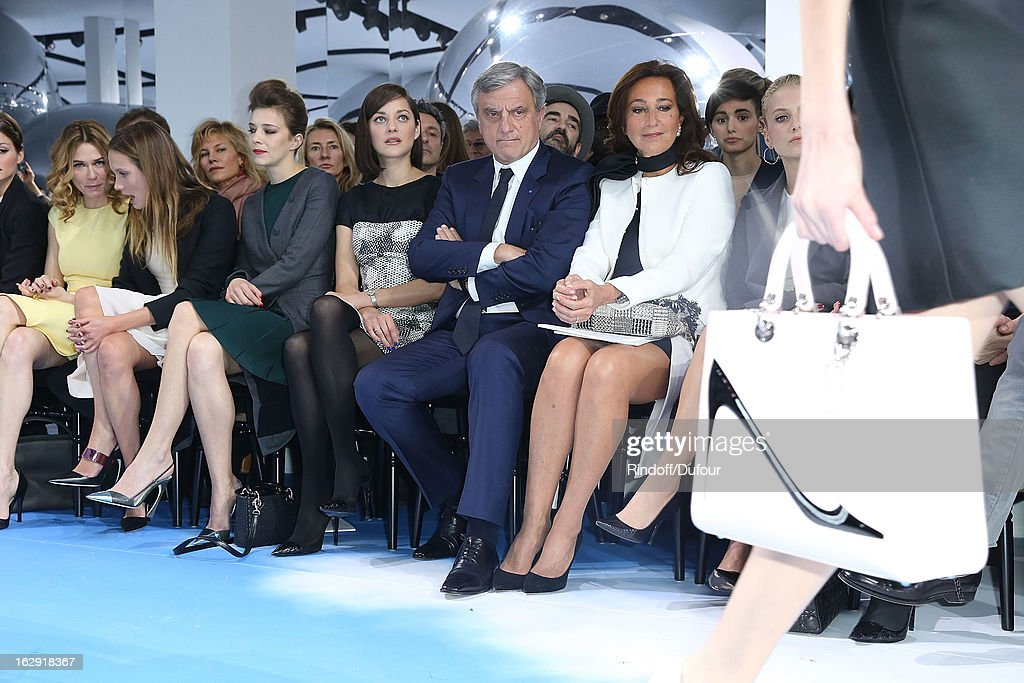 Marie Josee Croze, Ana Girardot, Celine Sallette, Marion Cotillard, Sidney Toledano and Katya Toledano attend the Christian Dior Fall/Winter 2013 Ready-to-Wear show as part of Paris Fashion Week on March 1, 2013 in Paris, France.