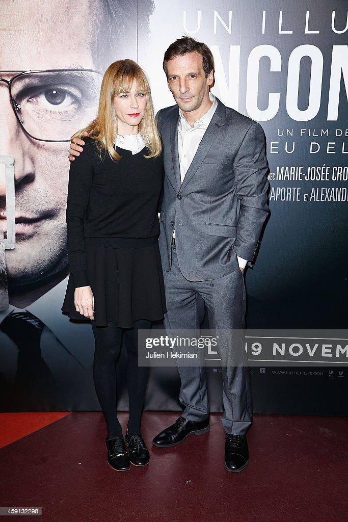Marie Josee Croze and Mathieu Kassovitz attend 'Un Illustre Inconnu' Paris Premiere at Cinema Gaumont Capucine on November 17 2014 in Paris France