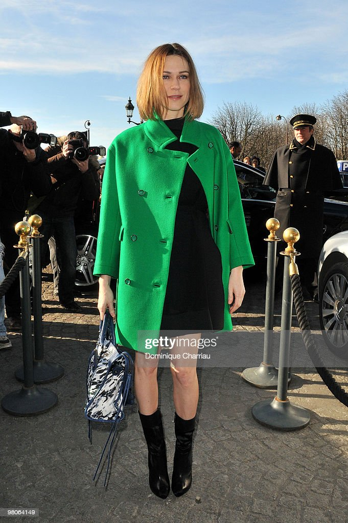 Marie Josee Croze attends the Balenciaga Ready to Wear show as part of the Paris Womenswear Fashion Week Fall/Winter 2011 at Hotel Crillon on March 4...