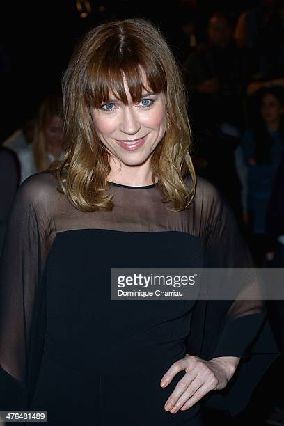 Marie Josee Croze attends the Elie Saab show as part of the Paris Fashion Week Womenswear Fall/Winter 20142015 on March 3 2014 in Paris France