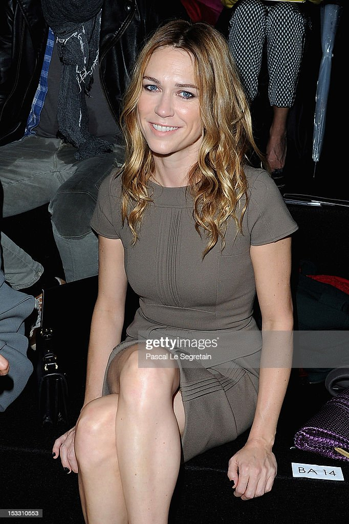 Marie Josee Croze attends the Elie Saab Spring/Summer 2013 show as part of Paris Fashion Week at Espace Ephemere Tuileries on October 3, 2012 in Paris, France.