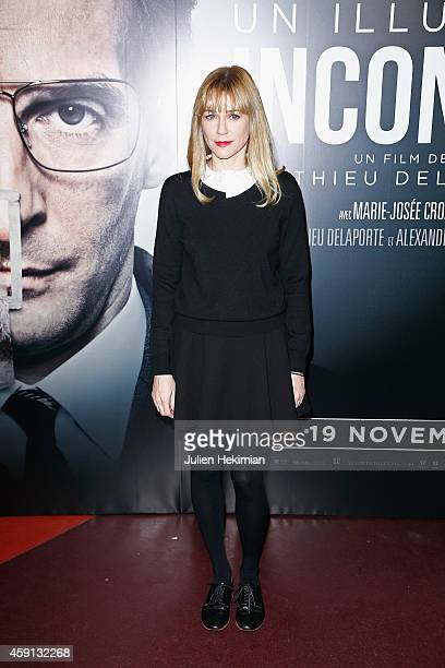 Marie Josee Croze attends 'Un Illustre Inconnu' Paris Premiere at Cinema Gaumont Capucine on November 17 2014 in Paris France