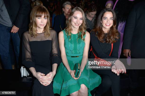 Marie Josee Croze Deborah Francois and Anouchka Delon attend the Elie Saab show as part of the Paris Fashion Week Womenswear Fall/Winter 20142015 on...