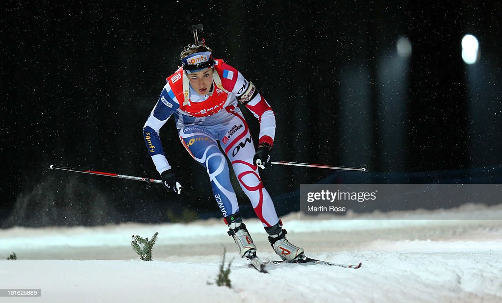 Marie Laure Brunet of Frnace competes in the Women's 15km Individual during the IBU Biathlon World Championships at Vysocina Arena on February 13, 2013 in Nove Mesto na Morave, Czech Republic.