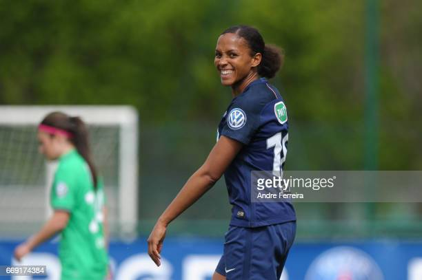 Marie Laure Delie of PSG during the women's National Cup match between Paris Saint Germain PSG and AS Saint Etienne at Camp des Loges on April 16...