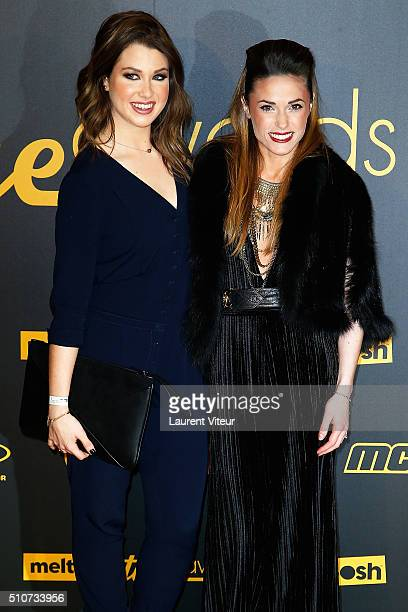 Marie Lopez AKA EnjoyPhoenix and Capucine Anav attend The Melty Future Awards 2016 Ceremony at Le Grand Rex on February 16 2016 in Paris France
