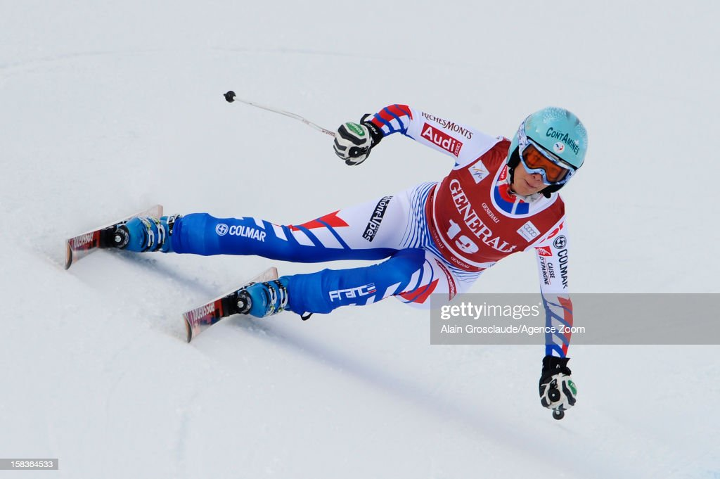 Marie Marchand Arvier of France competes during the Audi FIS Alpine Ski World Cup Women's Downhill on December 14, 2012 in Val d'Isere, France.