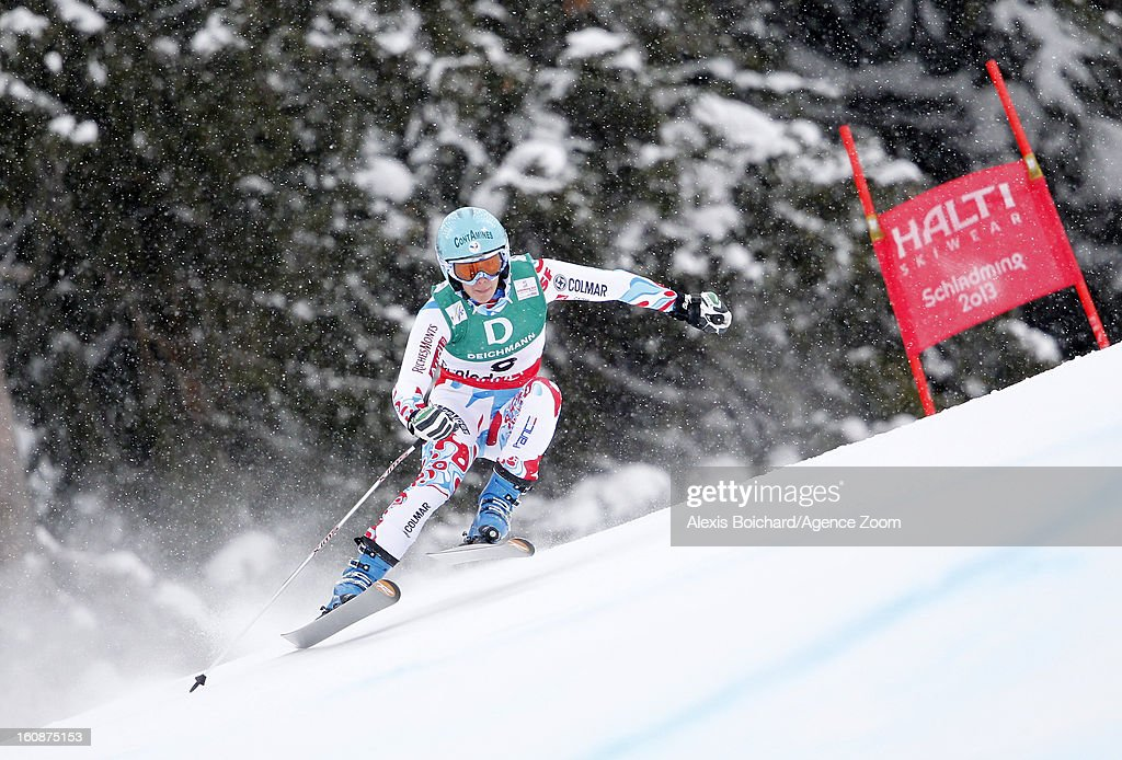 <a gi-track='captionPersonalityLinkClicked' href=/galleries/search?phrase=Marie+Marchand-Arvier&family=editorial&specificpeople=722482 ng-click='$event.stopPropagation()'>Marie Marchand-Arvier</a> of France competes during the Audi FIS Alpine Ski World Championships Women's Downhill training on February 07, 2013 in Schladming, Austria.
