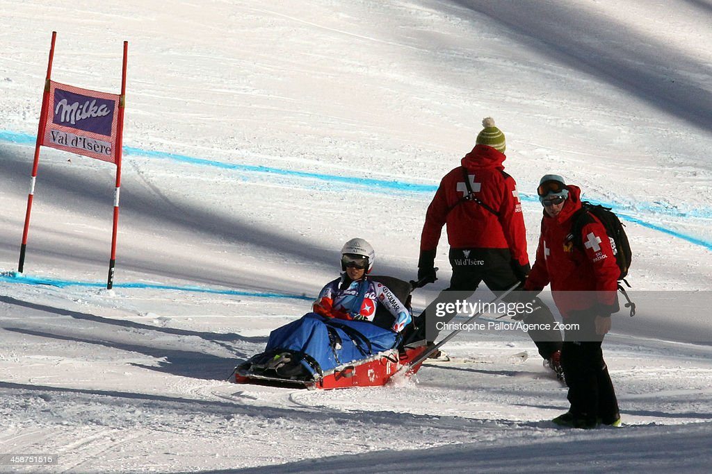 <a gi-track='captionPersonalityLinkClicked' href=/galleries/search?phrase=Marie+Marchand-Arvier&family=editorial&specificpeople=722482 ng-click='$event.stopPropagation()'>Marie Marchand-Arvier</a> of France competes during the Audi FIS Alpine Ski World Cup Women's Downhill on December 21, 2013 in Val d'Isere, France.