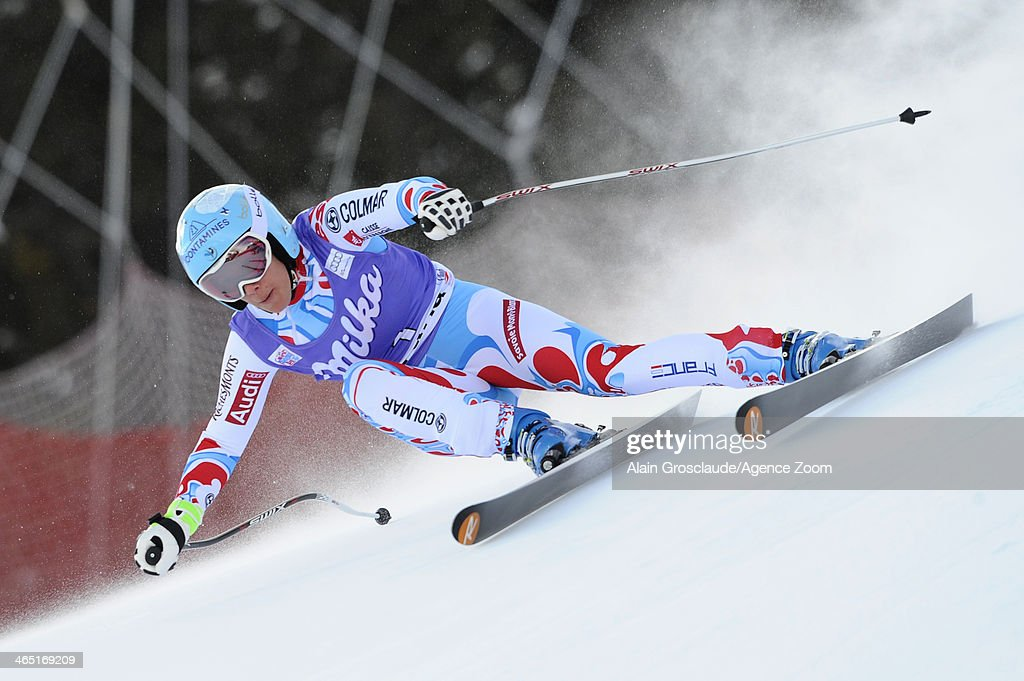 <a gi-track='captionPersonalityLinkClicked' href=/galleries/search?phrase=Marie+Marchand-Arvier&family=editorial&specificpeople=722482 ng-click='$event.stopPropagation()'>Marie Marchand-Arvier</a> of France competes during the Audi FIS Alpine Ski World Cup Women's Super-G on January 26, 2014 in Cortina d'Ampezzo, Italy.