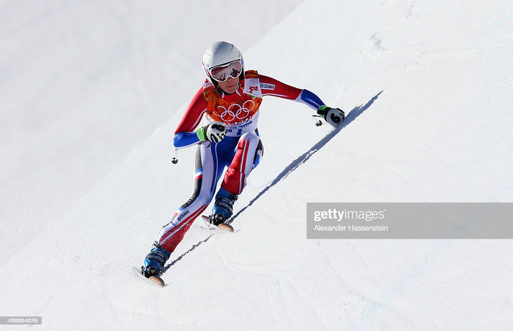 <a gi-track='captionPersonalityLinkClicked' href=/galleries/search?phrase=Marie+Marchand-Arvier&family=editorial&specificpeople=722482 ng-click='$event.stopPropagation()'>Marie Marchand-Arvier</a> of France skis during the Alpine Skiing Women's Downhill on day 5 of the Sochi 2014 Winter Olympics at Rosa Khutor Alpine Center on February 12, 2014 in Sochi, Russia.