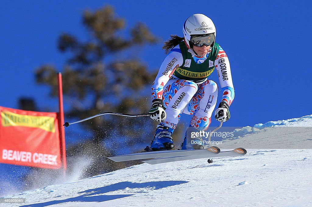 <a gi-track='captionPersonalityLinkClicked' href=/galleries/search?phrase=Marie+Marchand-Arvier&family=editorial&specificpeople=722482 ng-click='$event.stopPropagation()'>Marie Marchand-Arvier</a> of France skis to 14th place in the ladies' downhill on Raptor at the Audi FIS Alpine World Cup at Beaver Creek on November 29, 2013 in Beaver Creek, Colorado.