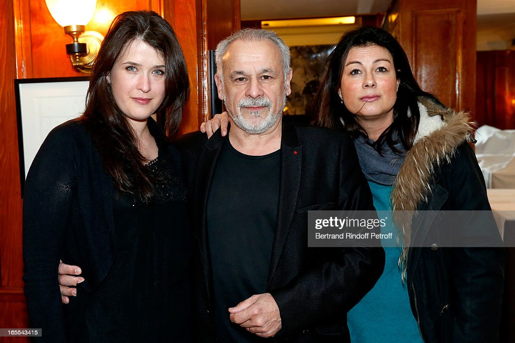 Marie Moute, Francis Perrin and Fiction Director on France 3 French Chanel Anne Holmes attend 'Mongeville TV Show : La Nuit Des Loups' Private Screening at Club 13 on April 4, 2013 in Paris, France.