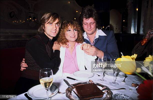 Marie Myriam Patrick Sebastien with Dave at their engagement in France in March 1978
