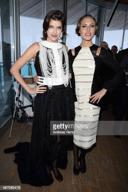 Marie Nasemann and Alena Gerber attend the Rebekka Ruetz Fashion Show at Top Mountain Star on April 26 2014 at Hochgurgl near Solden Austria
