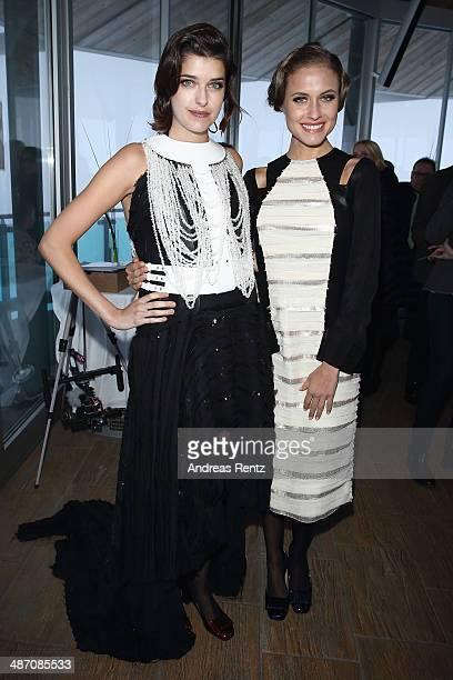 Marie Nasemann and Alena Gerber attend the Rebekka Ruetz Fashion Show at Top Mountain Star on April 26 2014 at Hochgurgl near Solden Austria
