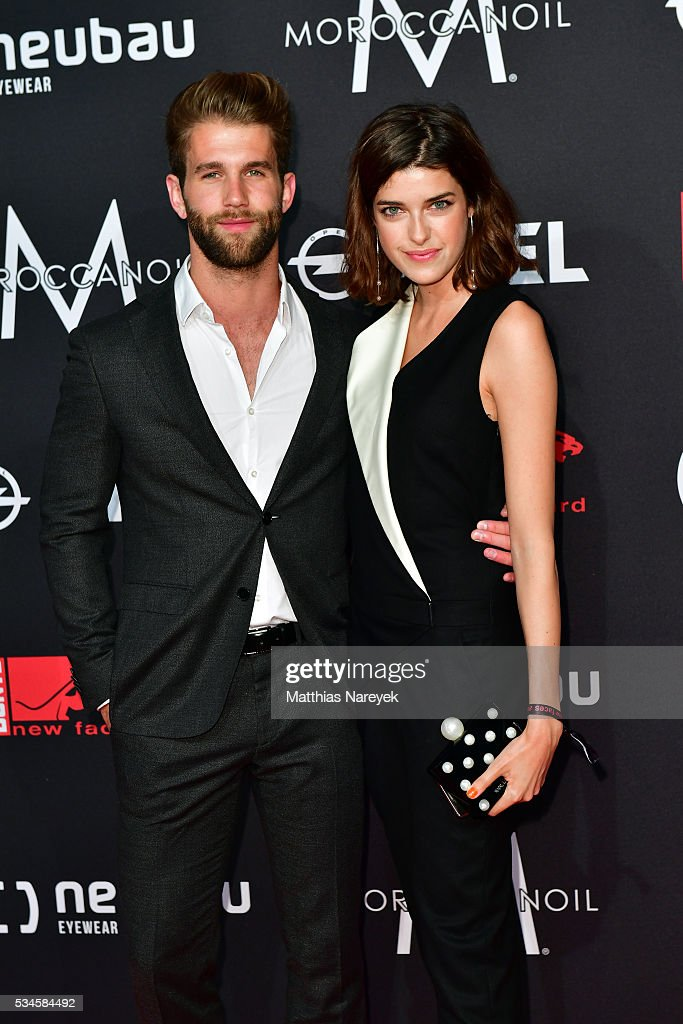 <a gi-track='captionPersonalityLinkClicked' href=/galleries/search?phrase=Marie+Nasemann&family=editorial&specificpeople=5841756 ng-click='$event.stopPropagation()'>Marie Nasemann</a> and Andre Hamann during the New Faces Award Film 2015 at ewerk on May 26, 2016 in Berlin, Germany.