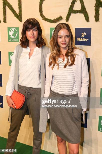 Marie Nasemann and Greta Faeser attend the Green Carpet Event of Tchibo on March 8 2017 in Hamburg Germany
