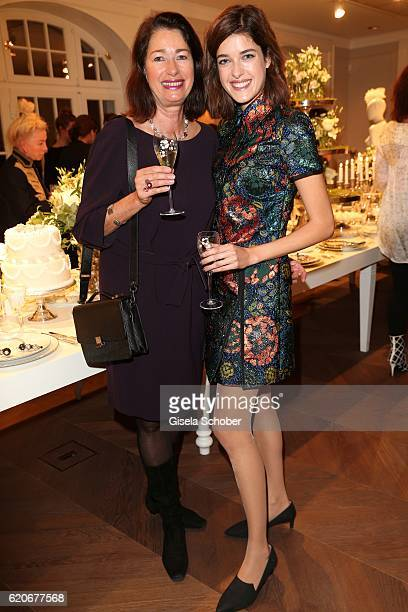 Marie Nasemann and her mother Andrea Nasemann during the Swarovski World Jewelry Facets exhibition at Villa Wagner on November 2 2016 in Munich...