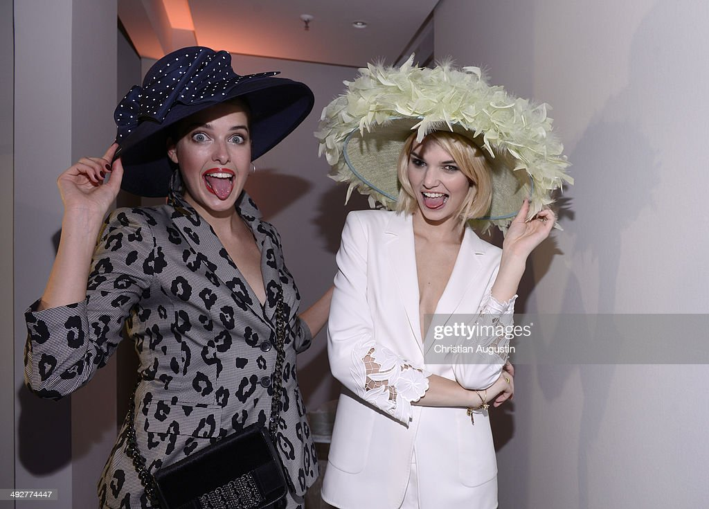 Marie Nasemann and Luisa Hartema attend Escada Flagshipstore Opening at Kaisergalerie on May 21 2014 in Hamburg Germany
