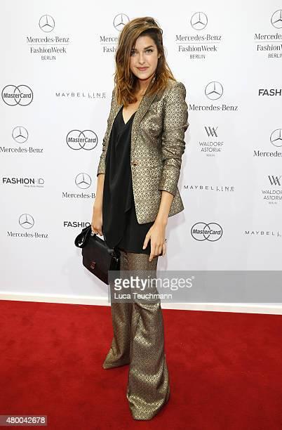 Marie Nasemann attends the Dimitri show during the MercedesBenz Fashion Week Berlin Spring/Summer 2016 at Brandenburg Gate on July 9 2015 in Berlin...