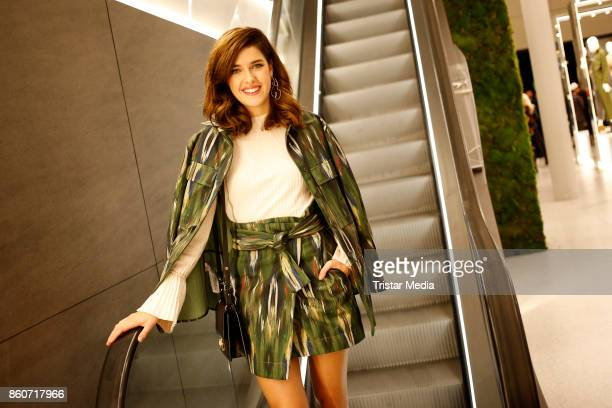 Marie Nasemann attends the Mango Committed Collection PreLaunch at Mango Store on October 12 2017 in Hamburg Germany