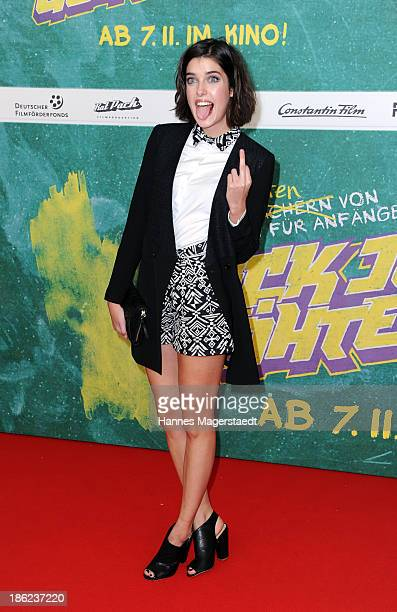 Marie Nasemann attends the premiere of the film 'Fack Ju Goehte' on October 29 2013 in Munich Germany