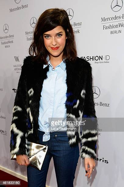 Marie Nasemann attends the Riani show during the MercedesBenz Fashion Week Berlin Autumn/Winter 2015/16 at Brandenburg Gate on January 20 2015 in...
