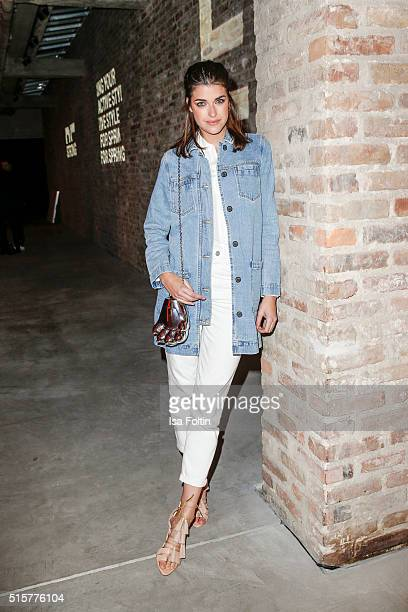 Marie Nasemann attends the Zalando Spring Summer 2016 Collection Launch with Anna Ewers on March 15 2016 in Berlin Germany