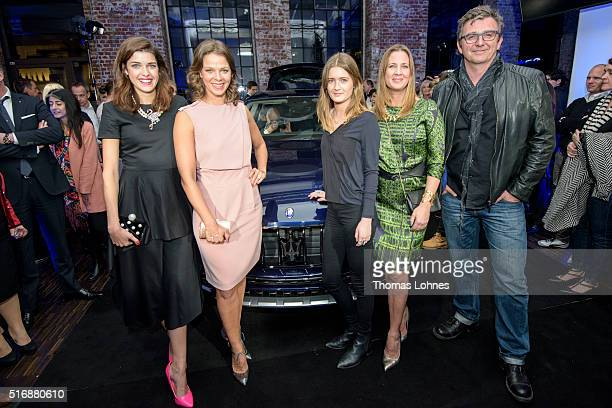 Marie Nasemann Jessica Schwarz Lilliy Schweiger Dana Schweiger and Hans Sigl pictured with the new Maserati Levante at 'Klassikstadt' on March 21...