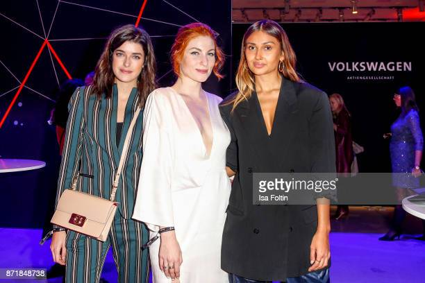 Marie Nasemann Lisa Banholzer and Wana Limar attend the Volkswagen Dinner Night prior to the GQ Men of the Year Award 2017 on November 8 2017 in...