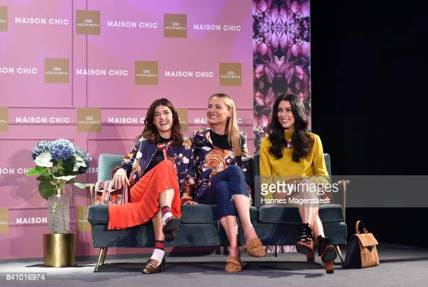 Marie Nasemann Prinzessin Lilly SaynWittgenstein and Rebecca Mir during the Maison Chic event at KONEN on August 30 2017 in Munich Germany