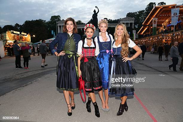 Marie Nasemann Sophie Hermann model and stepdaughter of Uschi Glas Darya Strelnikova and Viviane Geppert during the 'Beauty Beee girls only Wiesn' at...
