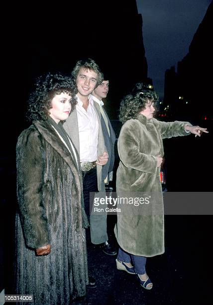 Marie Osmon and John Schneider during Lee Strasberg's Wake at Campbell's Funeral Parlor in New York City NY United States