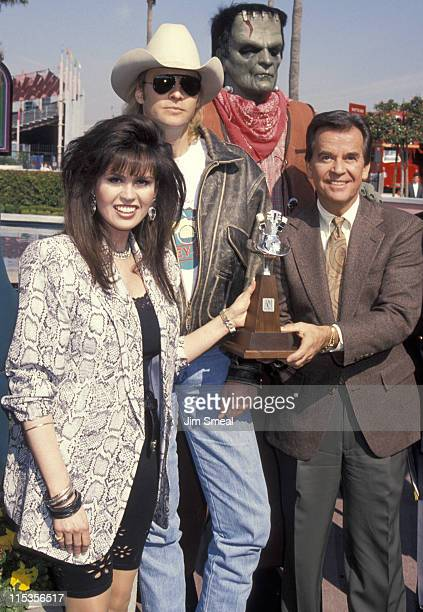 Marie Osmond Alan Jackson and Dick Clark during Academy of Country Music Awards Nomination at California Universal Amptheatre in Universal City CA...