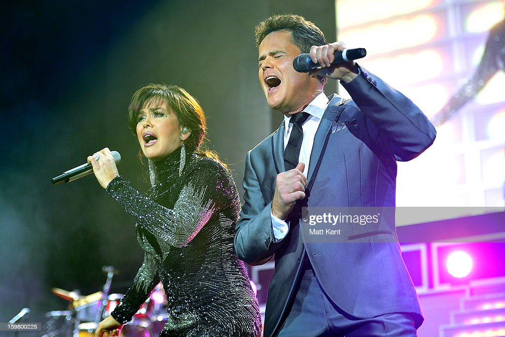 <a gi-track='captionPersonalityLinkClicked' href=/galleries/search?phrase=Marie+Osmond&family=editorial&specificpeople=217477 ng-click='$event.stopPropagation()'>Marie Osmond</a> (L) and <a gi-track='captionPersonalityLinkClicked' href=/galleries/search?phrase=Donny+Osmond&family=editorial&specificpeople=214564 ng-click='$event.stopPropagation()'>Donny Osmond</a> perform at the Donny and <a gi-track='captionPersonalityLinkClicked' href=/galleries/search?phrase=Marie+Osmond&family=editorial&specificpeople=217477 ng-click='$event.stopPropagation()'>Marie Osmond</a> concert at the 02 Arena on January 20, 2013 in London, England.