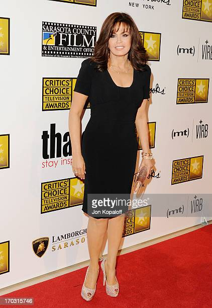 Marie Osmond arrives at the BTJA Critics' Choice Television Award at The Beverly Hilton Hotel on June 10 2013 in Beverly Hills California