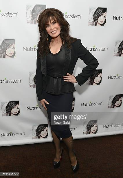 Marie Osmond attends Album Launch Party hosted by Nutrisystem at Aretsky's Patroon on April 14 2016 in New York City