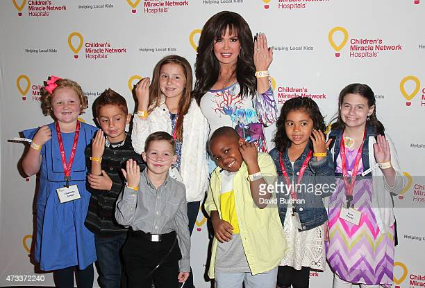 Marie Osmond attends the Jennifer Lopez and Marie Osmond launch of the 'Put Your Money Where The Miracles Are' campaign at Avalon on May 14 2015 in...