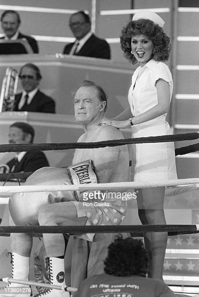 Marie Osmond Bob Hope during Taping of Bob Hope USO 40th Anniversary Show at West Point in West Point New York United States