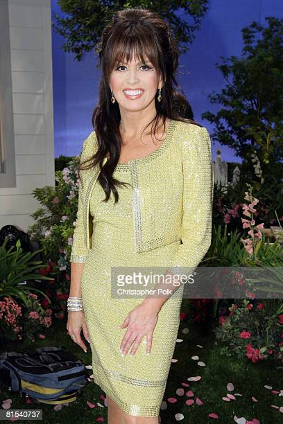 CULVER CITY CA MAY 11 Marie Osmond during 'Teleflora presents America's Favorite Mom' in Culver City on May 10 2008 Pasadena CA resident and Military...