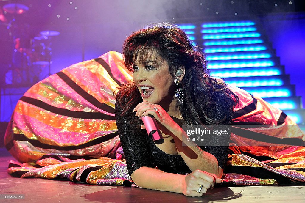 Marie Osmond performs at the Donny and Marie Osmond concert at the 02 Arena on January 20, 2013 in London, England.