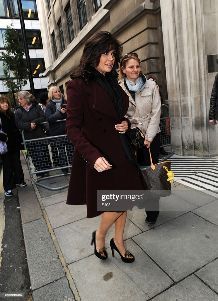Marie Osmond pictured at the BBC Broadcasting studios on November 5, 2012 in London, England.