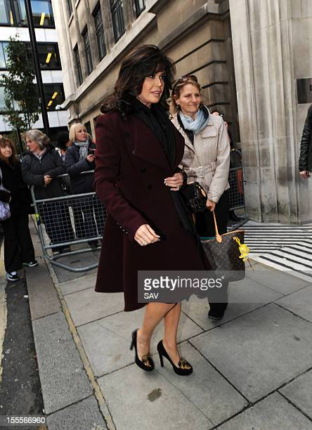 Marie Osmond pictured at the BBC Broadcasting studios on November 5 2012 in London England